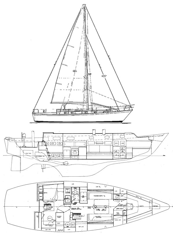 Pearson 424 Drawing